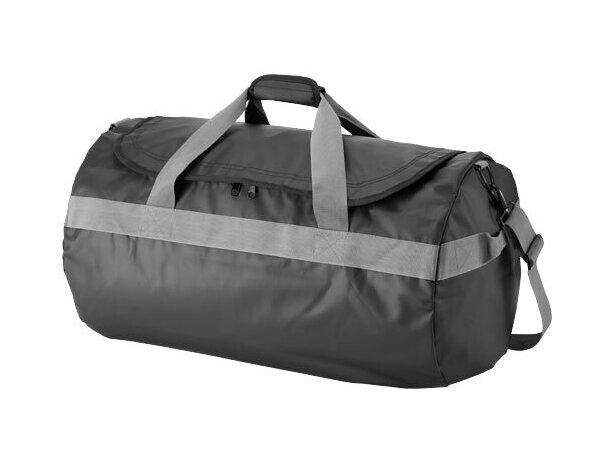 Bolsa de viaje grande de lona impermeable personalizada negro intenso