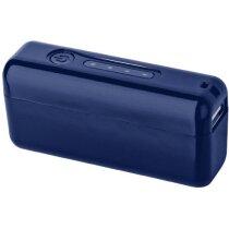 Batería externa  2200 mah con linterna personalizada azul medio