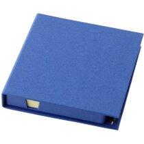Dispensador de notas con tapa personalizada azul
