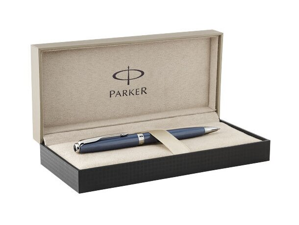Estuche elegante con bolígrafo de metal barato azul
