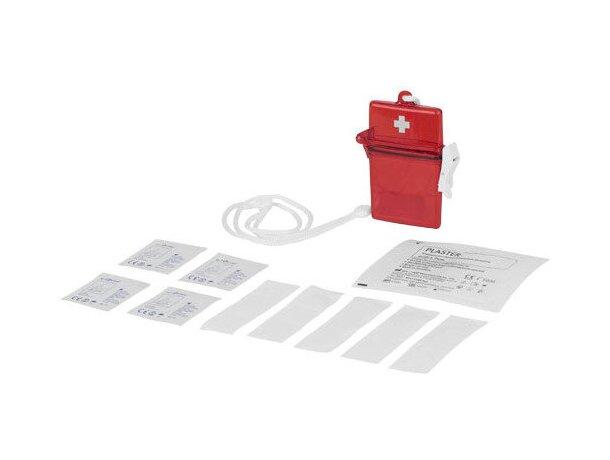 Botiquín con 10 piezas personalizado rojo