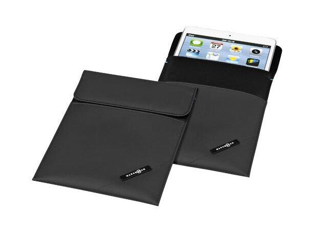 Protector de mini tableta con cierre magnético personalizado negro intenso