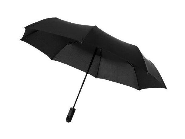 "Paraguas de 21.5"" plegable personalizado negro intenso"