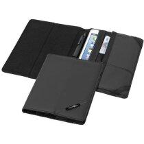Organizador para tablet con bolsillos negro intenso