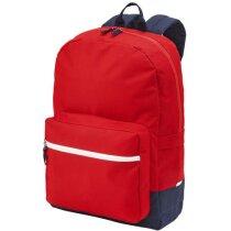 Mochila resistente con bolsillos para portátil personalizada roja