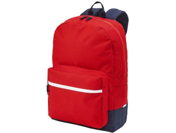 Mochila resistente con bolsillos para portátil roja