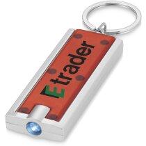 Llavero con minilinterna y pulsador personalizado