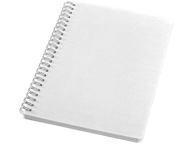 Libreta tamaño A5 en colores fluor personalizada blanca