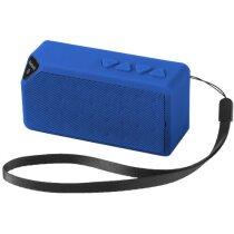 Altavoz bluetooth con sonido de calidad y micrófono personalizado azul