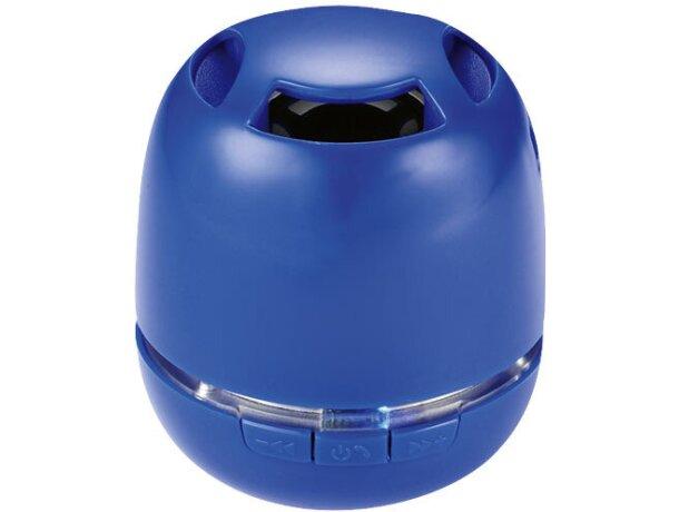 Altavoz mini con control de volumen y micro personalizado azul medio