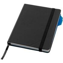 Libreta de notas con hoja de división negro intenso