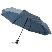 Paraguas plegable en 3 secciones personalizado azul marino