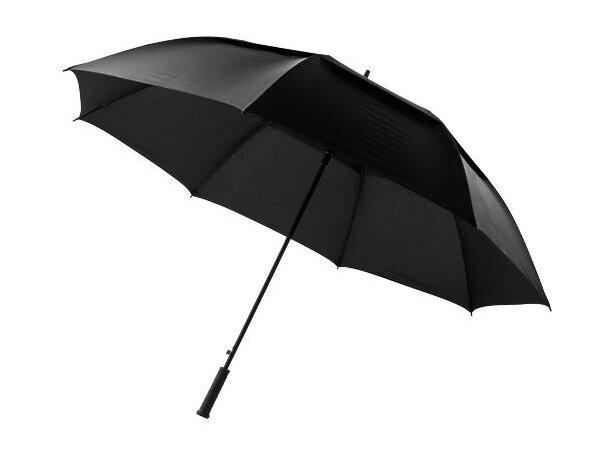 """Paraguas de 32"""" negro intenso grabado"""