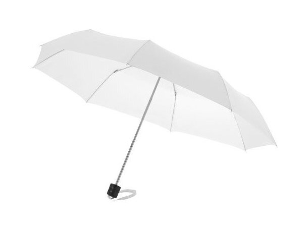 Paraguas de 3 secciones marca Centrix personalizado blanco