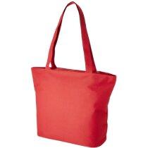 Bolsa de playa con cierre de cremallera roja