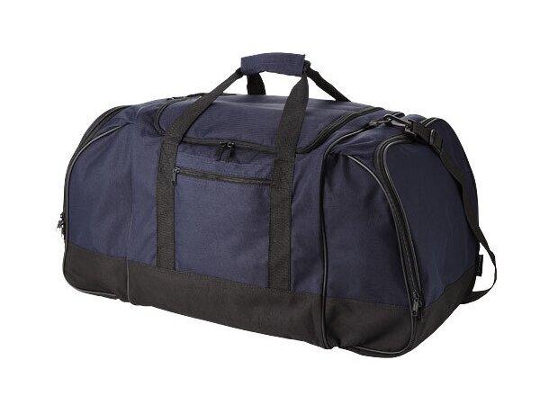 Bolsa de viaje con bolsillos laterales grandes personalizada azul marino