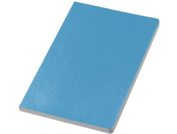 Libreta con tapas de polipiel personalizada azul claro