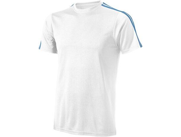 Camiseta técnica con detalles de color unisex blanca