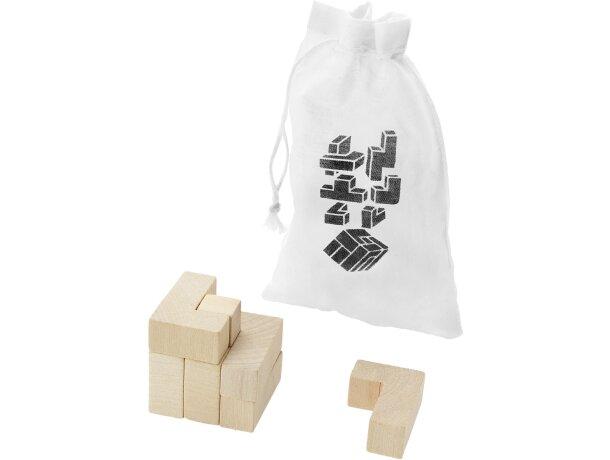 Juego de ingenio en bolsa personalizado madera