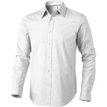 Camisa de hombre de manga larga blanca