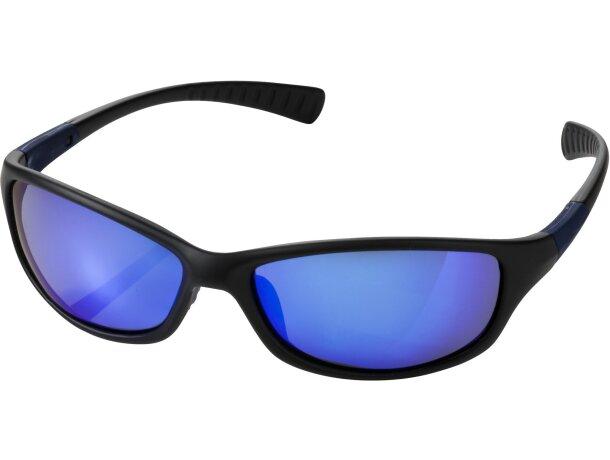 Gafas de sol con detalles de goma personalizada negro intenso