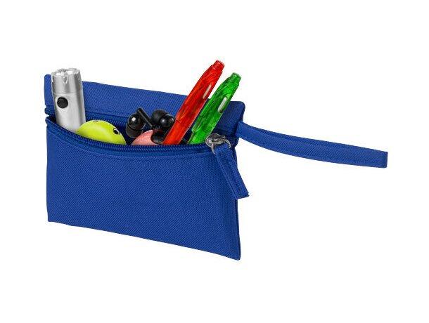 Bolsa monedero con muñequera personalizada azul