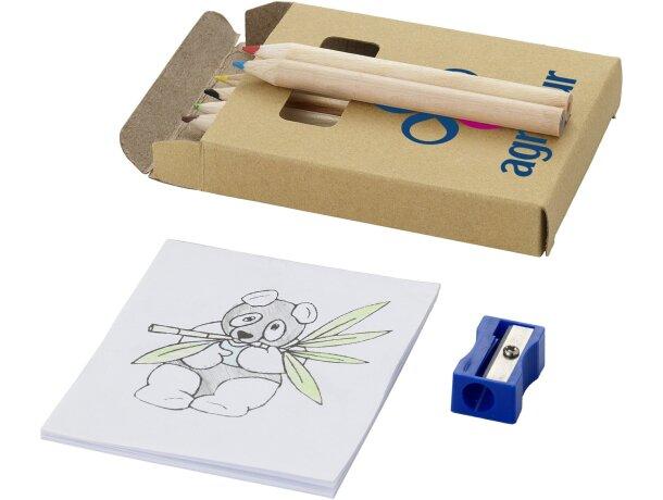 Caja para colorear de 8 piezas personalizada