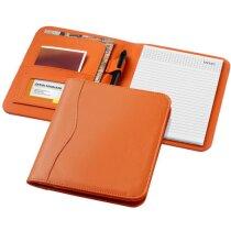 Portafolios tamaño A5 en colores de polipiel personalizado naranja