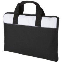Bolsa de congresos con asa corta personalizada negro intenso