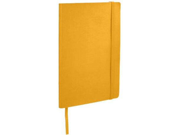 Libreta de notas con tapas blandas naranja