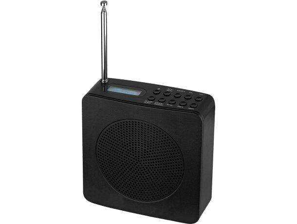 Radio despertador ligera personalizada negro intenso