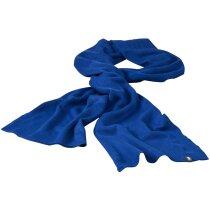 Bufanda de 240 gr en canalé personalizada azul medio