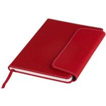 Juego de libreta tamaño A5 y cierre magnético personalizado rojo