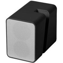 Altavoz con vibración sin cables personalizado negro intenso
