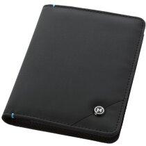 Cubierta para pasaporte personalizada negro intenso
