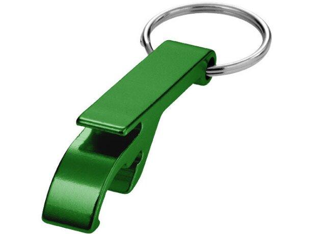 Llavero de aluminio abrebotellas personalizado verde