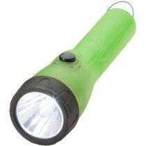 Linterna de plástico con luz led 2 modos personalizada verde
