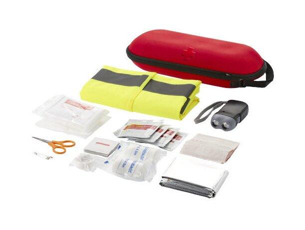 Botiquín de primeros auxilios con 47 piezas personalizado rojo