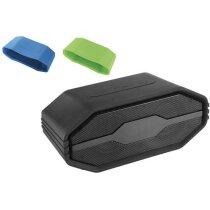 Altavoz bluetooth con funda de silicona personalizado negro intenso