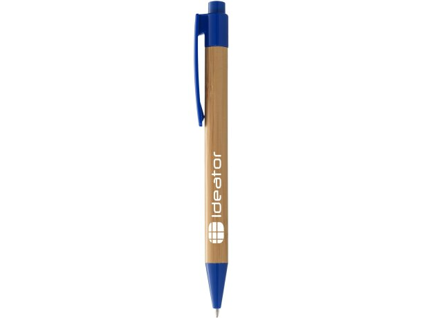 Bolígrafo de madera de bambú con clip grabado