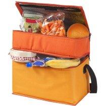 Bolsa isotérmica con 2 compartimentos personalizada naranja