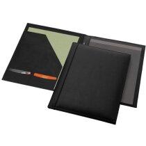 Portafolios A4 fabricado en piel personalizado negro intenso