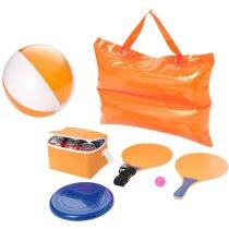 Set completo para playa personalizado naranja