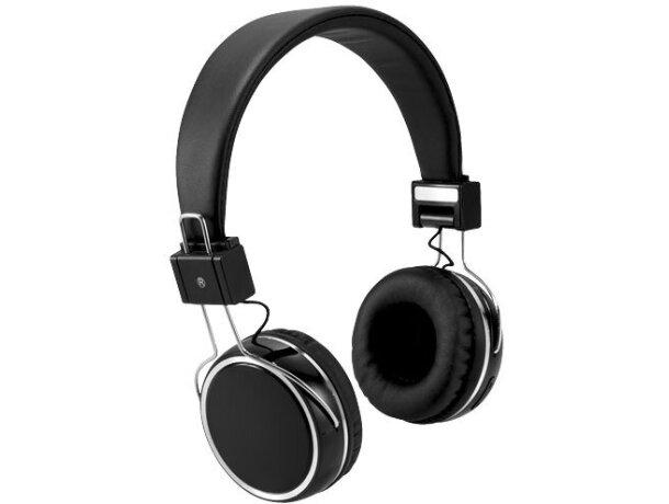 Auriculares táctiles con bluetooth negro intenso personalizado