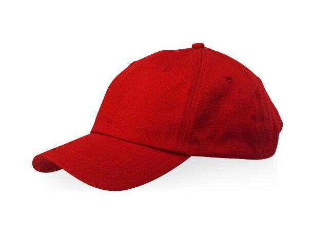 f77320454 Gorra sencilla con 6 paneles y cierre ajustable personalizada roja
