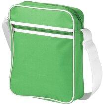 Bandolera con espacio para tablet grabado verde brillante