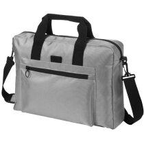 Bolsa de congresos de poliester con bolsillos personalizada gris