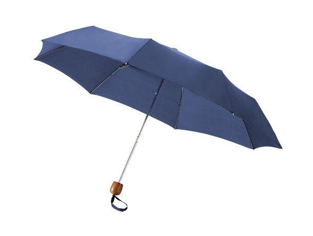 Paraguas con estructura metálica plegable