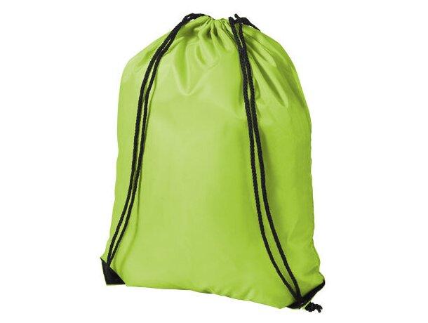 Mochila saco con cuerdas de varios colores grabada verde claro