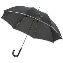 """Paraguas 23"""" personalizado negro intenso"""